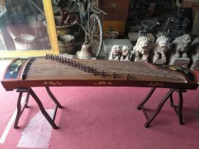 高档乐器,花梨木老古筝,带架子,音质非�:�,完好无损,全品,包老