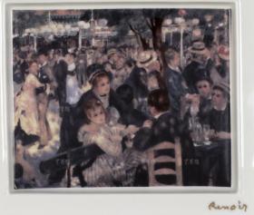 著名印象派画家 雷诺阿 名作《煎饼磨房的舞会》日本YAMAKA公司 精制挂璧瓷画一件(尺寸17.2cm*19.8cm*2cm) HXTX110735