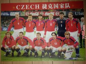 足球海报:当代体育:捷克国家队  劳尔(折叠寄送)