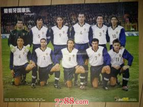 足球海报:当代体育:葡萄牙国家队  法比奥。卡纳瓦罗(折叠寄送)