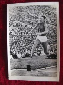 六十年代老照片    苏联女运动员什谢尔卡诺娃跳远创造了世界纪录        照片15厘米宽10.2厘米    B箱——18号袋