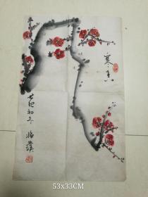 北京老画家花卉原作