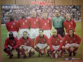 足球海报:当代体育:英格兰国家队  阿兰。史密斯(折叠寄送)