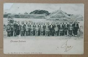清代中国军队军训老明信片