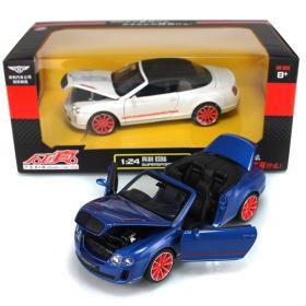 彩珀合金车模(型号68259) 1:24仿真宾利欧陆 汽车模型 儿童玩具车