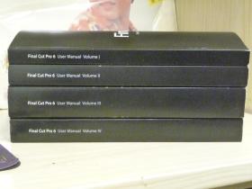 Final Cut Pro 6(苹果)1——4册//1~界面设备和输入2~编辑3~音频混合和效果4~媒体管理与输出【英文原版图书】重4公斤