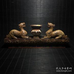 漆器寿山石笔架