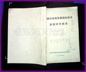 可持续发展指标体系课题研究报告李成瑞修改