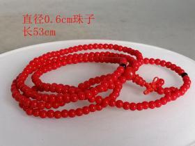 乡下收的一串红项链