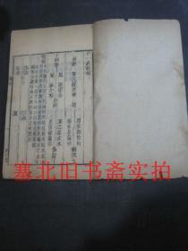 清代精刻线装竹纸木刻本-廿一史约编 前编、全目(史、汉)一册 25*15.3CM