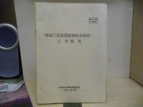 基础工程质量检验技术研究报告(鲁水科C92006)