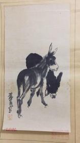 中国画艺术大师,社会活动家,收藏家。黄胄,驴,入选画稿,是七十年代末从出版社购买来