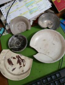 元代北方窑口瓷器残件五件
