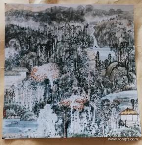 画家蒋长玉(秋赋)画照片尺寸18公分×17.5公分