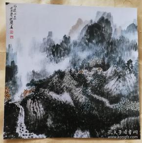 画家杨根润(水运山长)画照片尺寸18.5公分×18.5公分