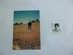 B0575诗之缘旧藏,台湾中生代诗人楚楚上世纪精品代表作手迹1页、诗观手迹1页,附照片2张