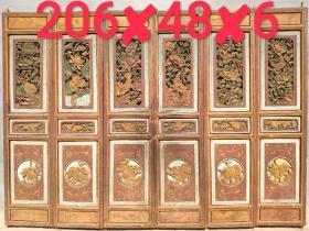 彩绘    隔扇  屏风  镂空雕刻 雕花精细  纯手工雕刻   购入即用  复古装饰首选