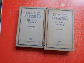 MARX ENGELS SELECTED WORKS 马克思恩格斯文选 (全二卷) 英文原版精装1951年印刷