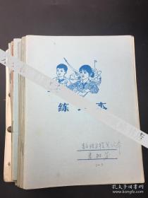 北京大学著名学者李树芳笔记本《数理方程笔记本》12本(保真)