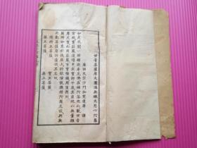 佛教经典 线装连史纸精印大开本《大悲心陀罗尼经》全一厚册是书含菩萨、金刚、法宝版画100余幅。唐西天竺沙门伽梵达摩译。 尺寸:3 0.5 X 1 7。商务印书馆民国22年铸版