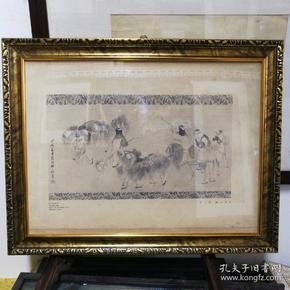 清代画家胡三桥《元宵儿戏》民国珂罗版印刷画