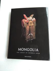 MONGOLIA THE LEGACY OF CHINGGIS KHAN 贴关祖章藏书票一枚 精装护封
