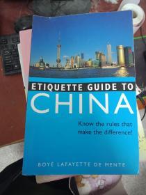 [现货特价]Etiquette Guide to China: Know the Rules That Make the Difference!9780804839433