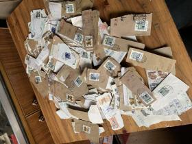 3128:91年各种实寄邮票一堆,大概几百枚,395克