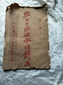 民国三十六年版函套 散页张大千临抚敦煌壁画(13张全)