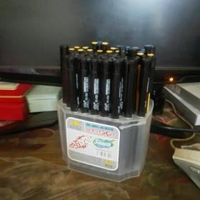 办公按掣式耐用型黑色原子笔一盒6o支一支9元