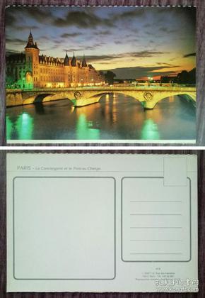 外国明信片,法国原版,塞纳河兑桥,品如图