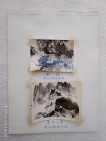 山水画风景照片参赛联展照片《野塘》《蜀中小景》
