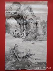山水画  水墨 (无款)