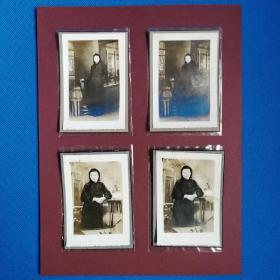 民国女子照片四幅