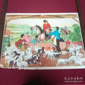 宣传画:放羊的牧民1972年