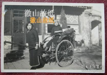 民国老照片:拉黄包车,看书的民国旗袍美女!《陌上》