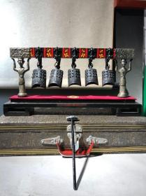 中国湖北七八十年代仿古编钟 曾侯乙墓编钟复制品,湖北仿古编钟 原盒 难得一见的老工艺品 古代乐器 乐器鼻族