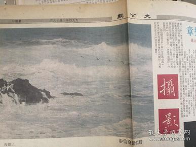 大公报   摄影    生活圈版  1994.10.16