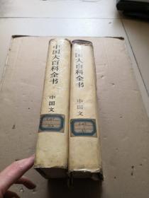 中国大百科全书 中国文学1,2 精装特种本