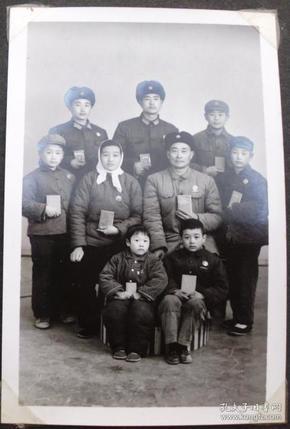 老照片,文革老照片--全家福--收藏夹相册