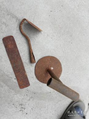 农具工具;铁杂件3件