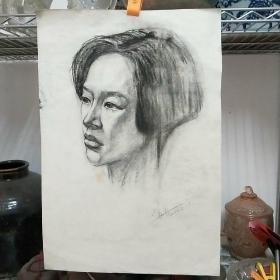当代设计名家、湖北大学艺术学院沈劲夫素描画1