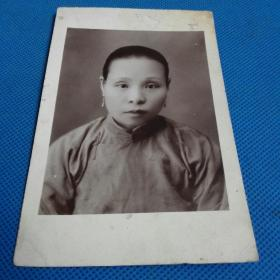 民国相纸照片明信片妇人肖像