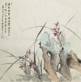【保真】【刘晓东】河北省美协会员、四尺斗方花鸟作品(68*68CM)2。