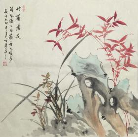 【保真】【刘晓东】河北省美协会员、四尺斗方花鸟作品(68*68CM)8。