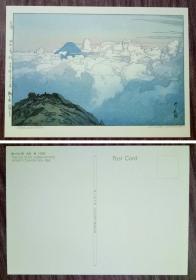 外国明信片,日本原版,富士山美术绘画,品如图