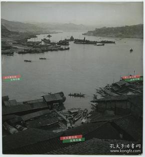 民国四川重庆长江码头航运风景老照片