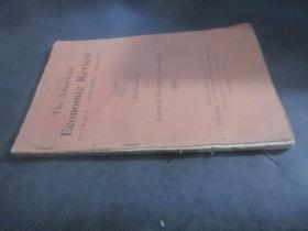 The  Aamerican  Economic  Review 美国经济评论 1917年11月 第七卷第四号《指数》 美国经济学会刊物  1886---1910  无后封面页