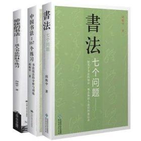 正版 邱振中书法论集全3册 愉快的书法(进入书法的24个练习)+书法七个问题+中国书法:167个练习/书法技法的分析与训练