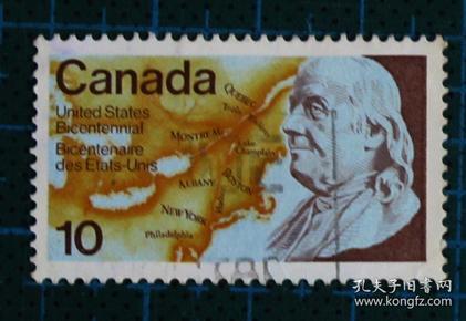 加拿大邮票----美国200周年(信销票)